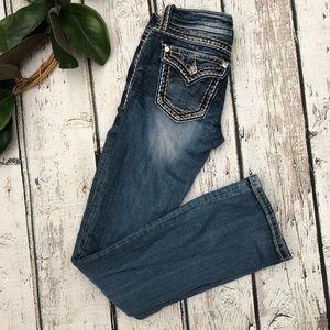 Miss Me Jeans Size 25 Distressed Bootleg Denim